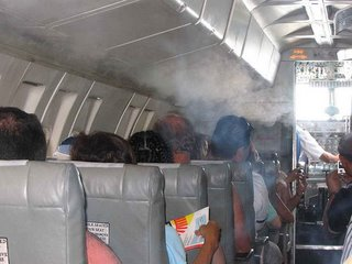 Smoke-filled-plane