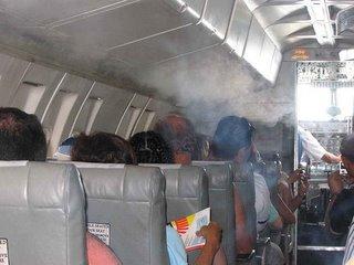 Smoke-filled-plane